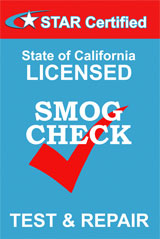 STAR Certified Smog Test & Repair Station